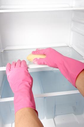 städa ur kylskåpet och rengör